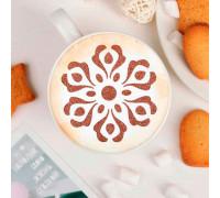 """Трафарет для кофе и выпечки d 8,5 см """"Соцветие"""""""