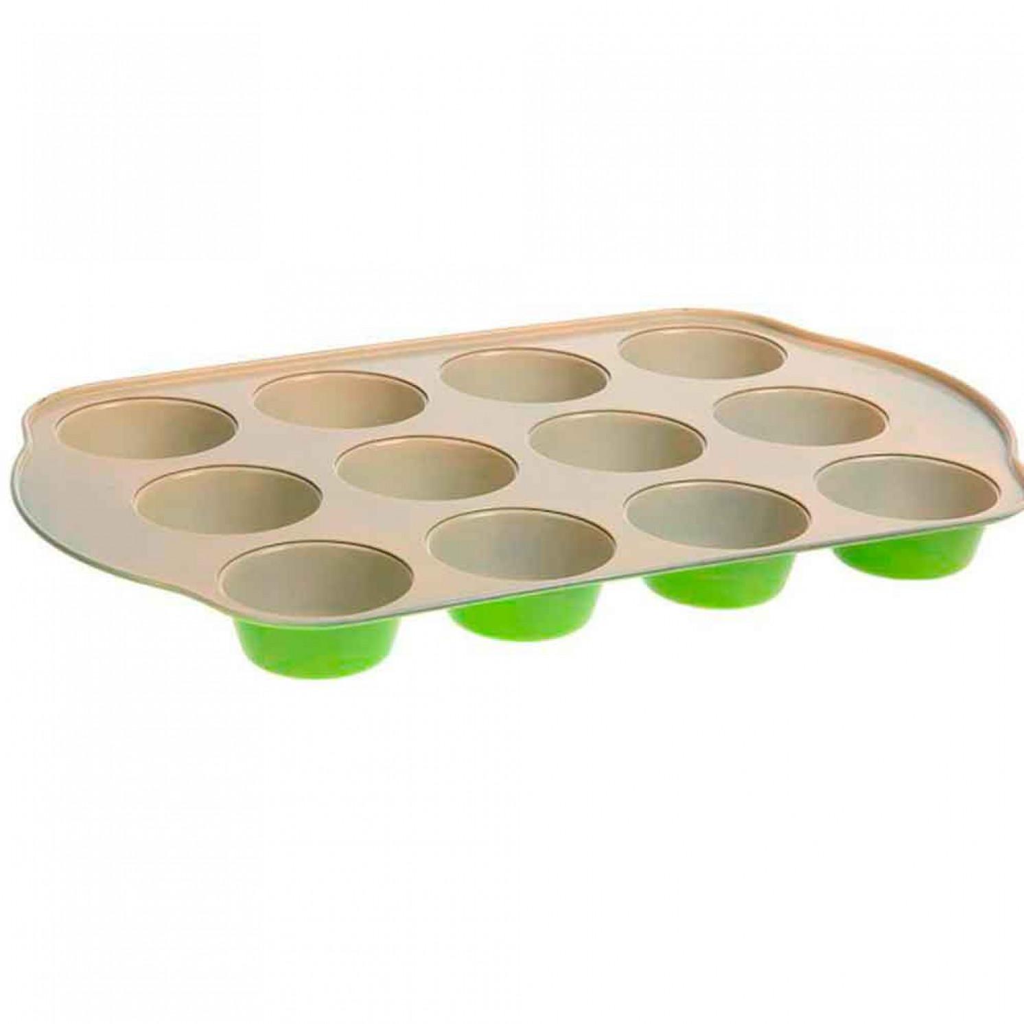"""Форма для выпечки с керамическим покрытием 41х26,5х3,5 см """"Флёри. Круг"""" 12 ячеек"""
