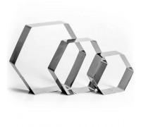 """Набор форм для выпечки и выкладки """"Шестиугольник"""", 20 х 20 х 5 см, 3 шт"""