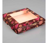 """Коробка самосборная бесклеевая, """"Новый год"""", 16 х 16 х 3 см"""