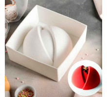 """Форма для муссовых десертов и выпечки 19×9 см """"Мерси"""", цвет белый"""
