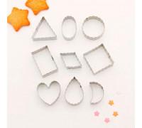 """Набор форм для вырезания печенья 3,5х4х1,5 см """"Галетное печенье"""", 9 шт"""