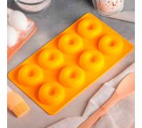 """Форма для выпечки """"Пончики"""", 8 ячеек, цвета МИКС (диаметр ячейки 6 см)"""