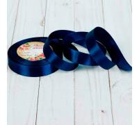 Лента атласная, 20 мм × 23 ± 1 м, цвет тёмно-синий №81