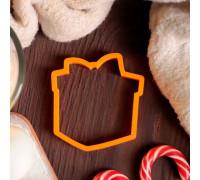 """Форма для вырезания печенья 9 см """"Подарок"""", цвет МИКС"""