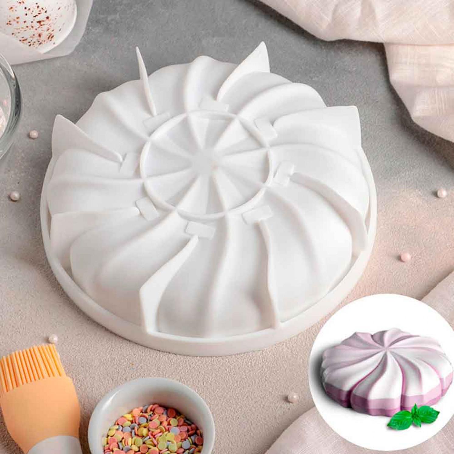 """Форма для муссовых десертов и выпечки 19×5 см """"Зефир"""", цвет белый"""