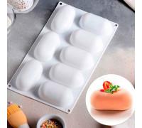 """Форма для муссовых десертов и выпечки 30×17,5 см """"Раузи"""", 8 ячеек, цвет белый"""