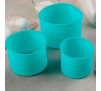 """Набор форм для выпечки """"Куличики"""", 3 шт: 9,5х9,5х8 см, 12х12х9 см, 14х14х10 см, цвета МИКС"""