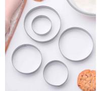 """Набор форм для вырезания печенья 7,4x7,4 см """"Круг"""", 5 шт"""