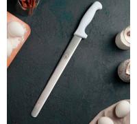 """Нож для бисквита, ровный край, ручка пластик, рабочая поверхность 30 см (12"""")"""