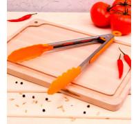Щипцы универсальные для гарнира «Лист», 28 см, цвет МИКС