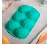 """Форма для выпечки 27×17 см """"Пасхальные яйца"""", 6 ячеек, цвет МИКС"""