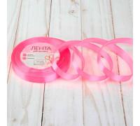 Лента атласная, 12 мм × 23 ± 1 м, цвет ярко-розовый №05