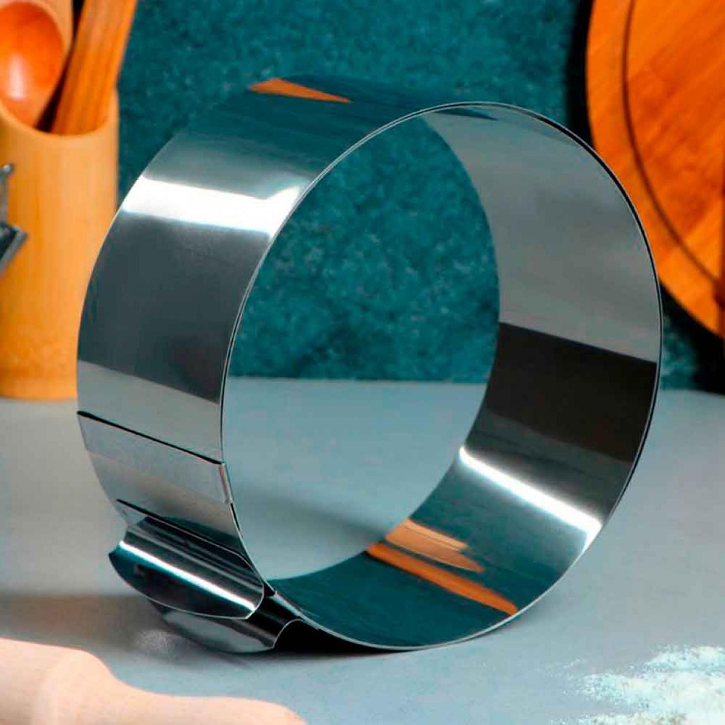 """Форма для выпечки и выкладки с регулировкой размера """"Круг"""", D-16-30, H-8,5 см"""