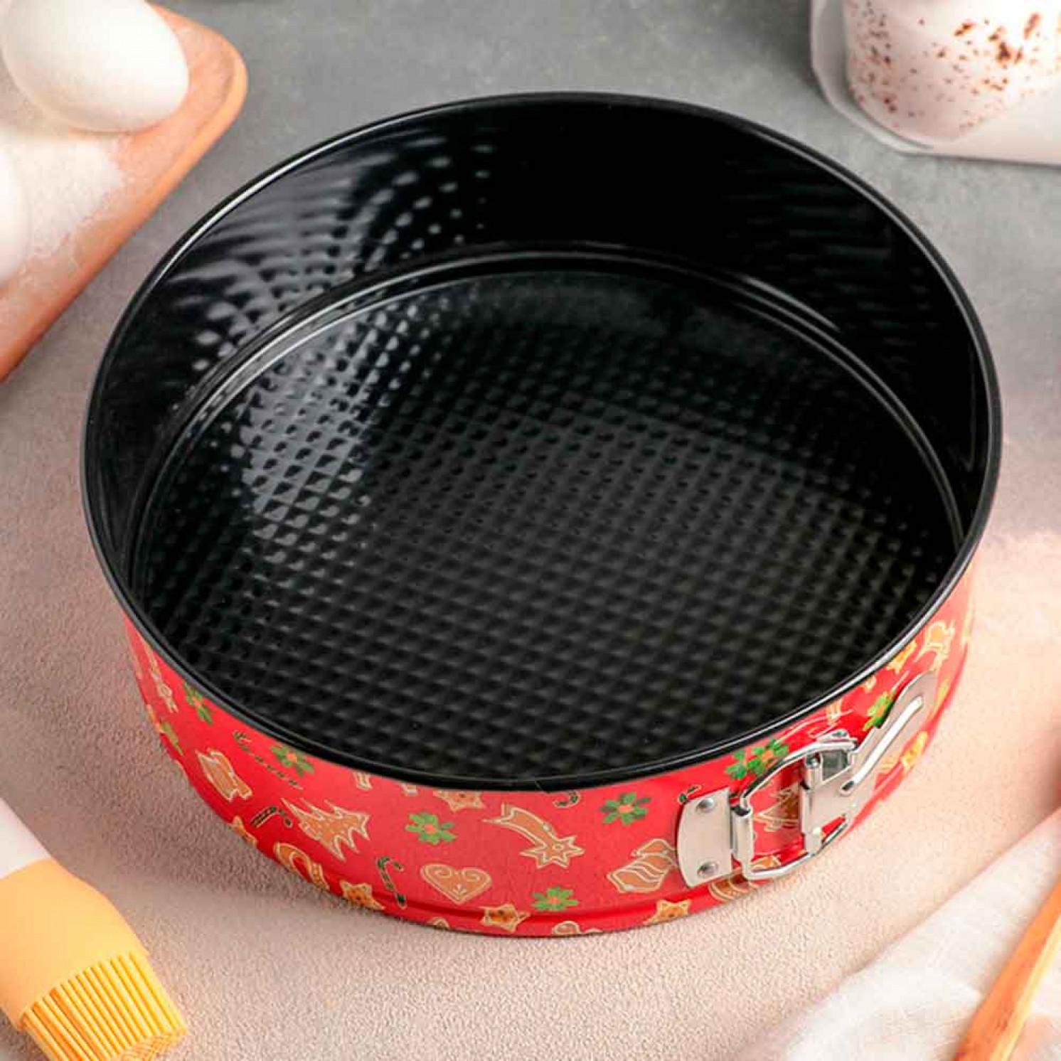 Форма для выпечки разъёмная «Флорсет», 24×6,5 см, антипригарное покрытие, рисунок МИКС