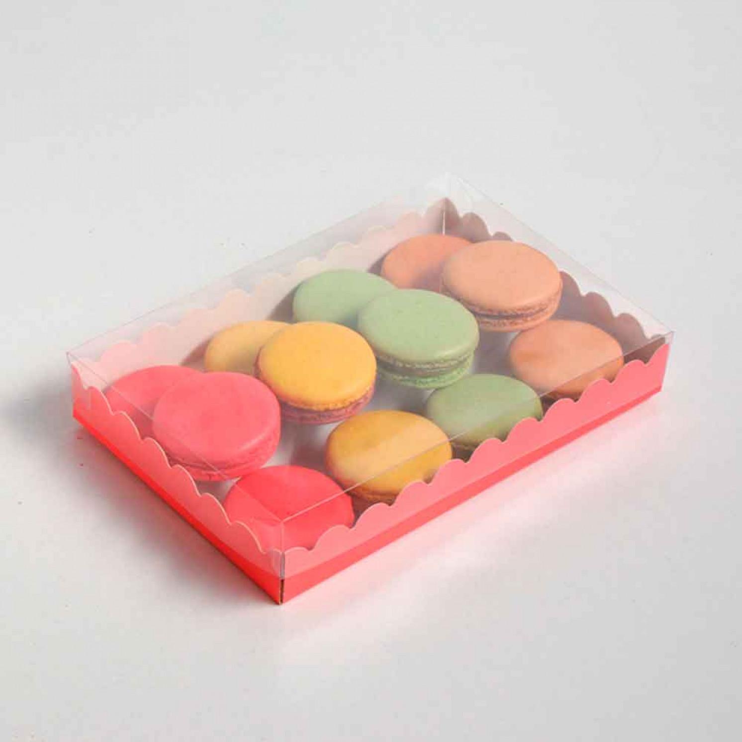 Коробочка для печенья, розовая, 22 х 15 х 3 см