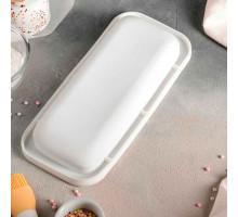 Форма для муссовых десертов и выпечки 29,5×14 см «Базис», внутренний размер 24,7×9,5 см, цвет белый