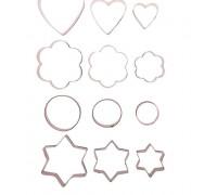 """Набор форм для вырезания печенья """"Фигурки"""", 12 шт: 6,5×1,2 см"""