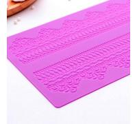"""Коврик для айсинга 38,7×16,5 см """"Кружево"""", цвет фиолетовый"""