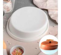 Форма для муссовых десертов и выпечки 21×20,5 см «Пиза», внутренний d=18,5 см), цвет белый
