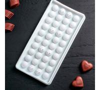"""Форма для льда и шоколада 24×12 см """"Шарики"""", 40 ячеек, цвет МИКС"""