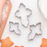 """Набор форм для вырезания печенья 8,5х5,5 см """"Крестик"""", 3 шт"""