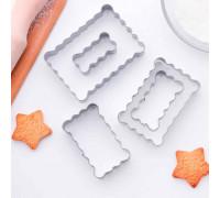 """Набор форм для вырезания печенья 9x6,5x1,5 см """"Прямоугольник ребристый"""", 5 шт"""
