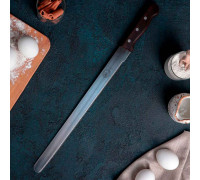 Нож для бисквита «Гурман-Про» с мелкими зубцам, деревянная ручка, рабочая поверхность 35 см