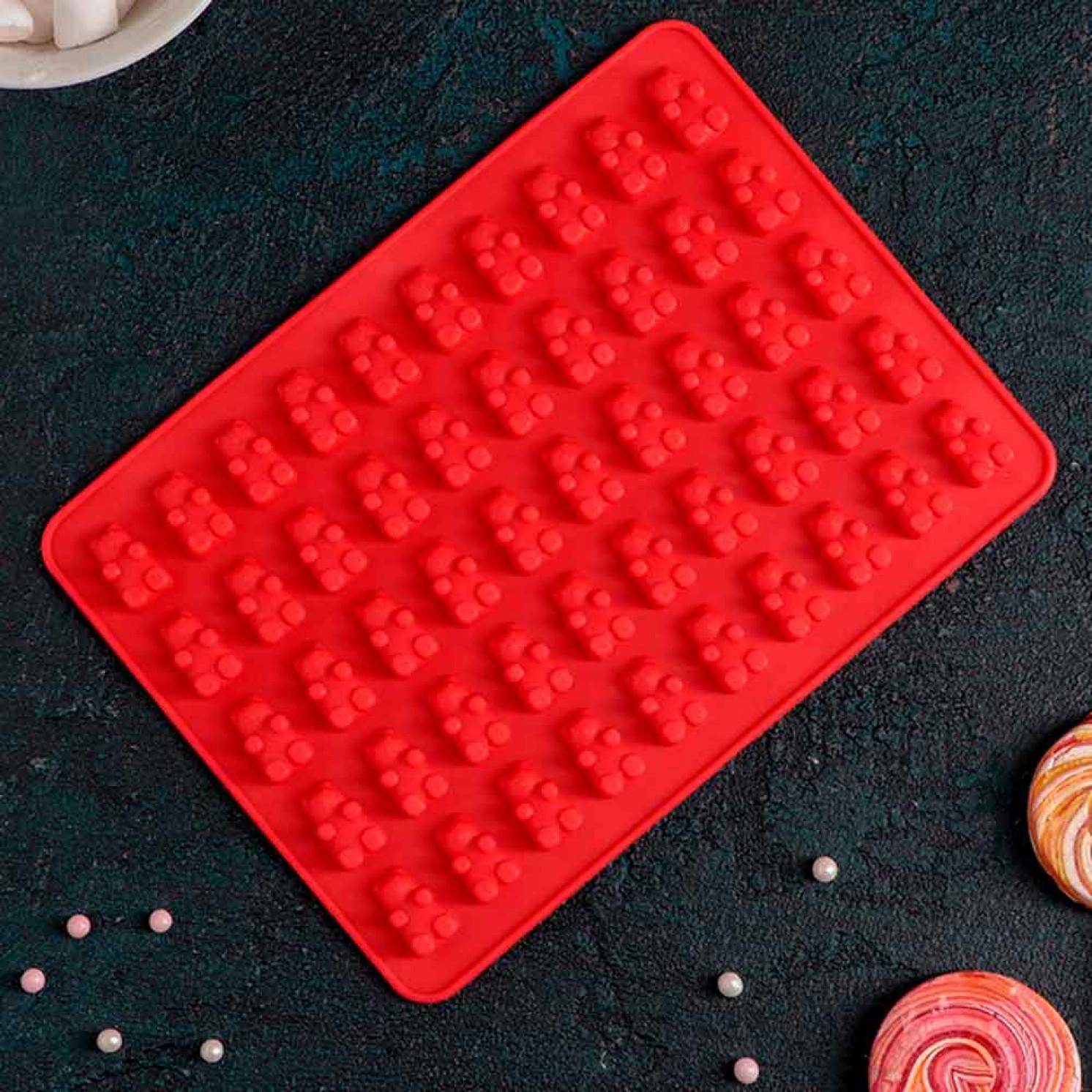 """Форма для мармелада """"Сладкие мишки"""", 50 ячеек, цвета МИКС"""