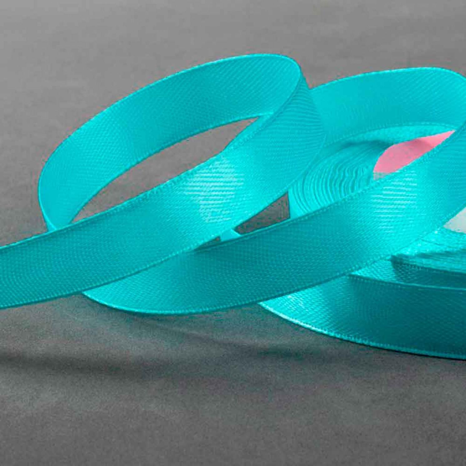 Лента атласная, 12 мм × 22 ± 1 м, цвет голубой №11