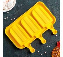 """Форма для леденцов и мороженого """"Эскимо макси"""", 3 ячейки, цвет МИКС"""