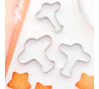 """Набор форм для вырезания печенья 7 х 7 см """"Самолет"""", 3 шт"""
