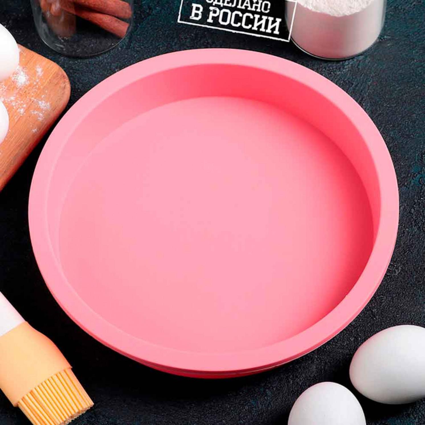 """Форма для выпечки 20х4 см """"Круглая"""", цвет МИКС"""
