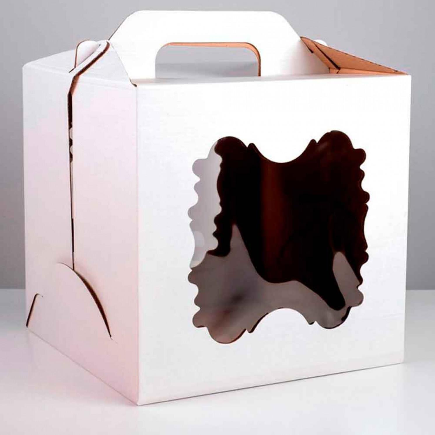 Кондитерская упаковка,2 окна, 30 х 30 х 30 см