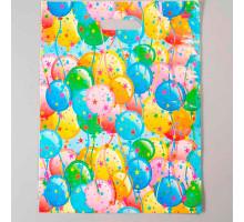 """Пакет """"Воздушные шарики"""", полиэтиленовый с вырубной ручкой, 40 х 31 см, 30 мкм"""