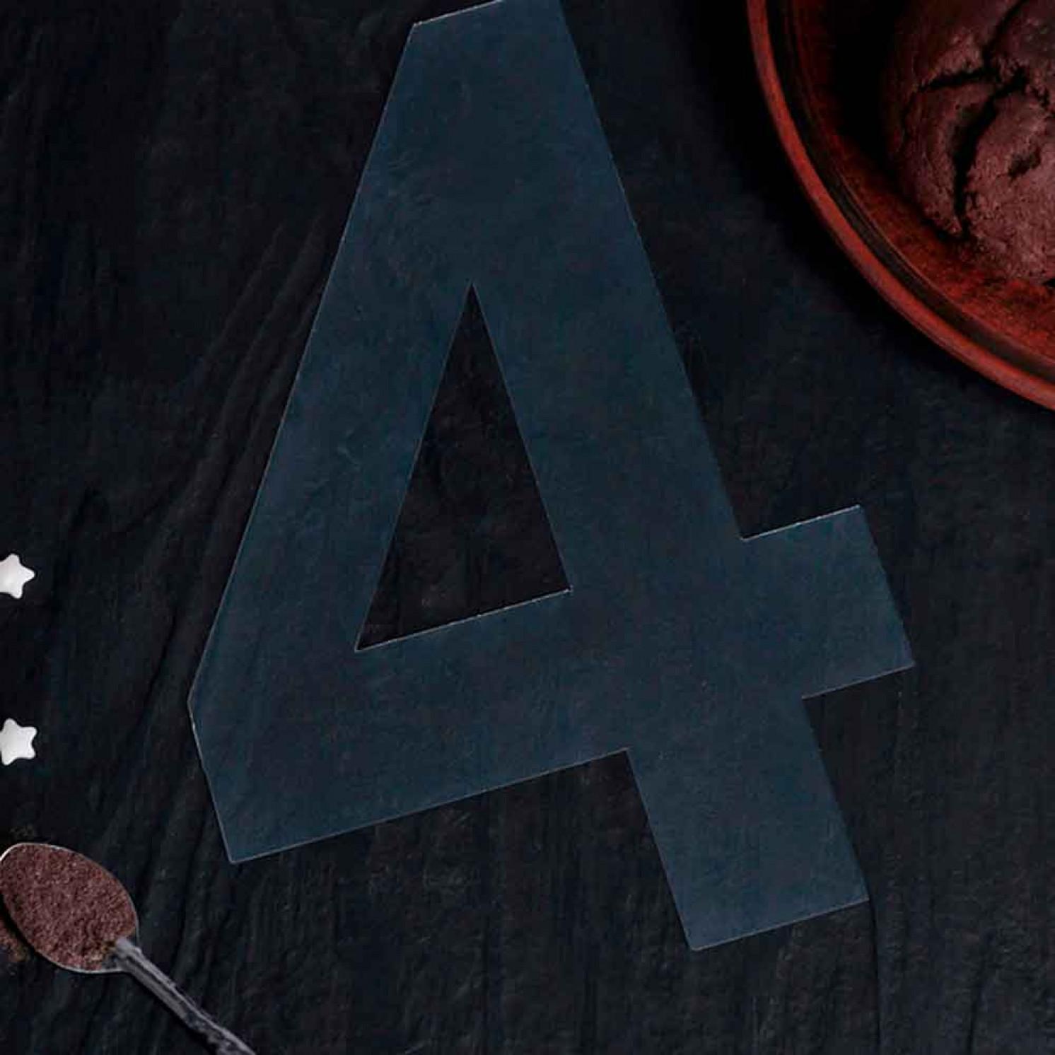 "Трафарет для торта ""Цифра 4"", цвет белый"