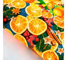 Бумага упаковочная глянцевая «Пряные мандарины», 70 × 100 см