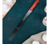 """Нож для бисквита, ровный край, ручка дерево, рабочая поверхность 30 см (12"""")"""