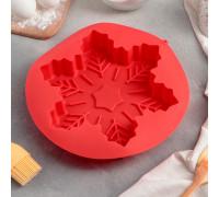 Форма для выпечки «Снежинка», 22,5×3,5 см, цвет МИКС