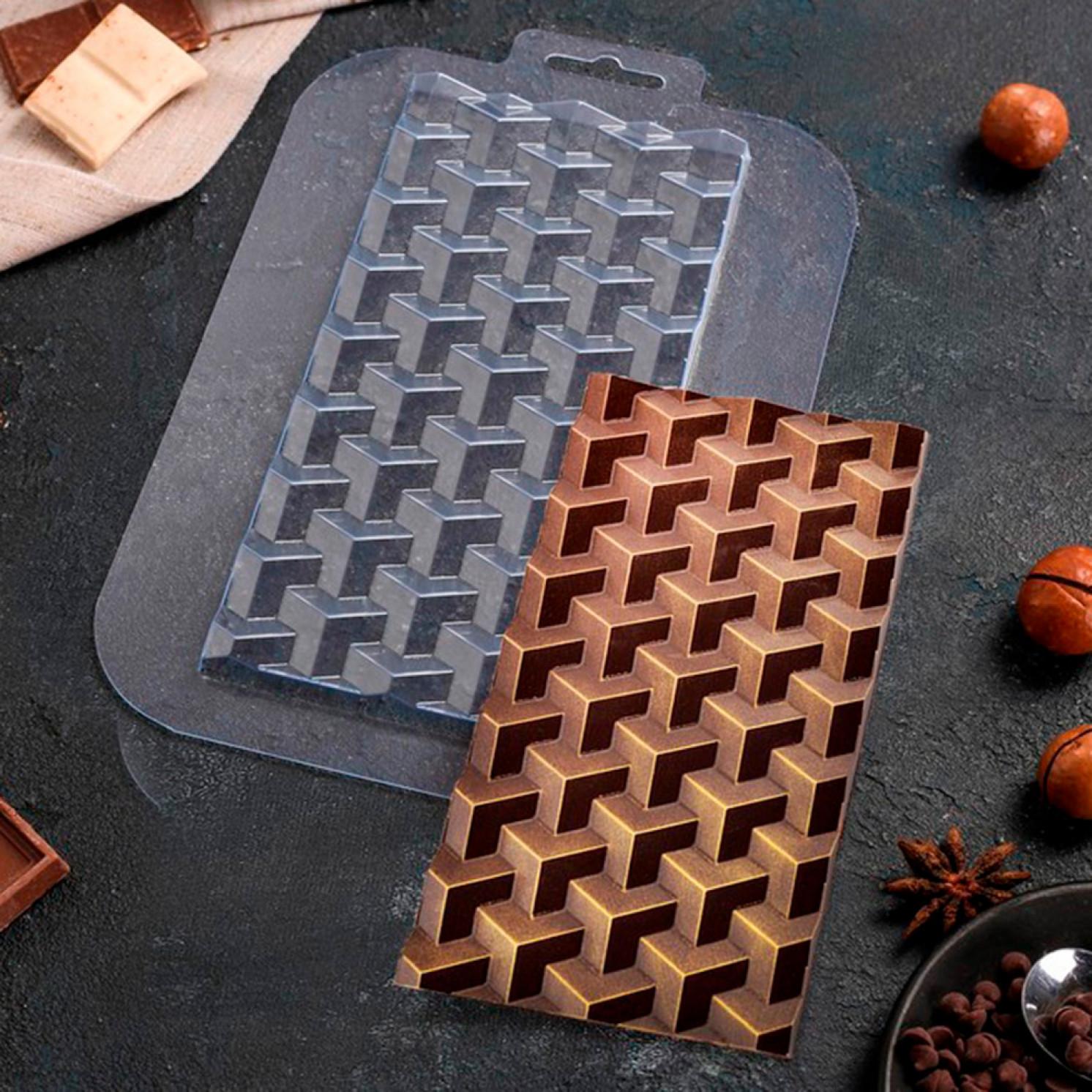 Форма для шоколада «Плитка Кубики Экстра»