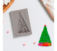 Молд силиконовый «Ель нарядная», 8×5 см, цвет МИКС