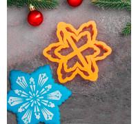 Форма для пряников «Снежинка рождественская», 11 см, цвет оранжевый