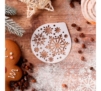 Трафарет для кофе «Снежинки» 9.5 × 8.5 см