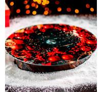 Подставка для торта вращающаяся «Новогодний венок», d=32 см