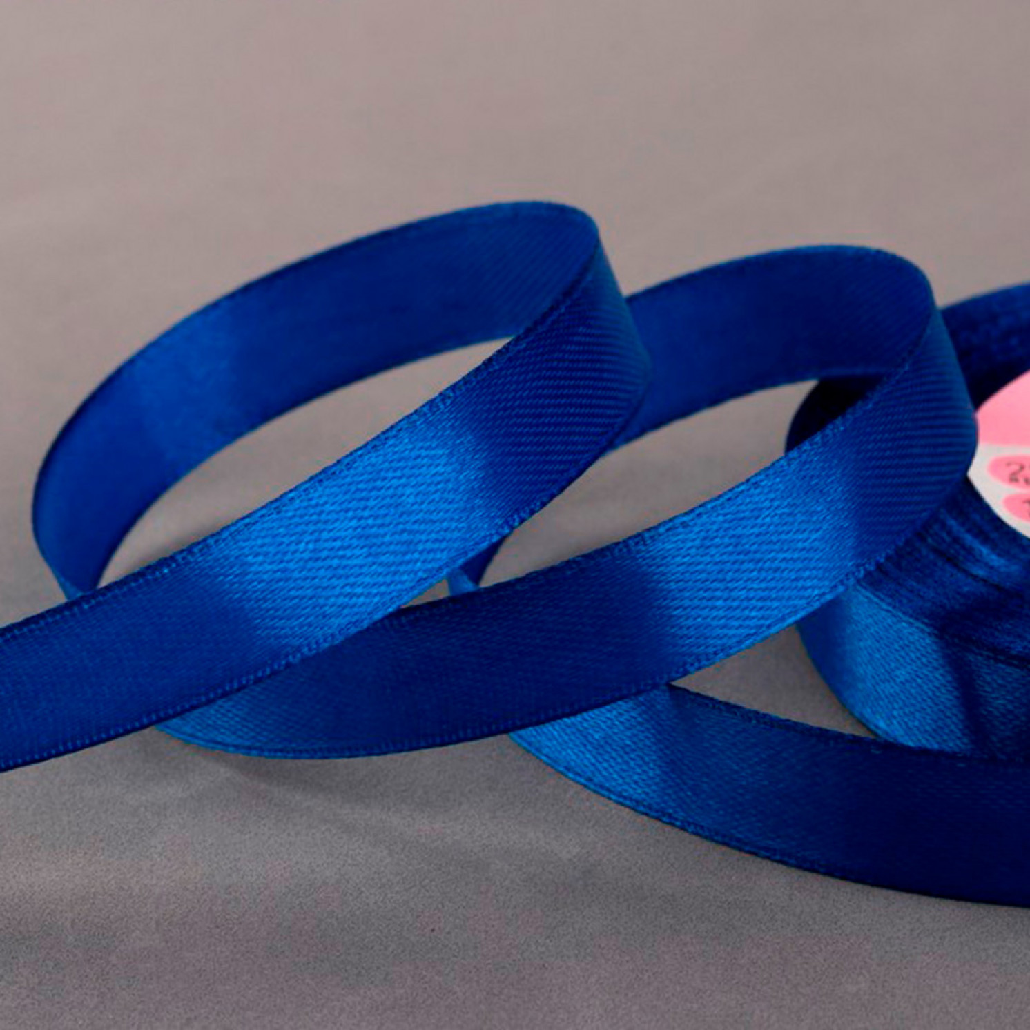 Лента атласная, 12 мм × 23 ± 1 м, цвет синий №40