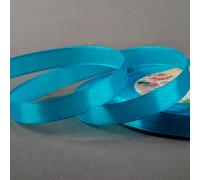 Лента атласная, 10 мм × 23 ± 1 м, цвет ярко-голубой №20