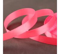 Лента атласная, 12 мм × 33 ± 2 м, цвет розовый №005