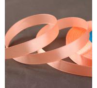 Лента атласная, 12 мм × 33 ± 2 м, цвет персиковый №007