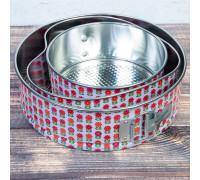 Набор форм для выпечки разъёмных «Геометрия», 3 шт: 20 см, 23 см, 25 см