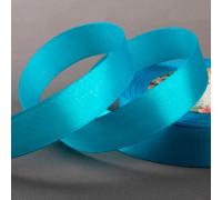 Лента атласная, 20 мм × 23 ± 1 м, цвет ярко-голубой №20